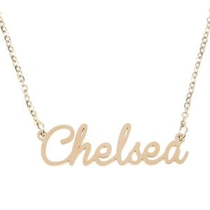 Jewelry - Gold Chelsea Name Nameplate Necklace B25